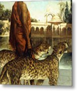The Palace Guard With Two Leopards Metal Print