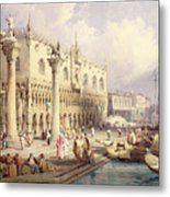 The Palaces Of Venice Metal Print