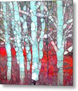 The Pale Trees Of Winter Metal Print