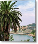 The Palm Is Always Associated With Summer, Sea, Travelling To Warm Countries And Rest Metal Print