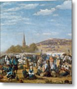 The Pardon Of Sainte Anne La Palud Metal Print