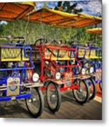 The Park Bikes Metal Print