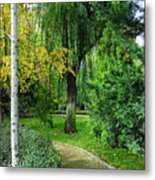 The Park Federico Garcia Lorca Is Situated In The City Of Granada, In Spain. Metal Print