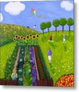 The Park Number 1 Of 3 Metal Print by Barbara Esposito