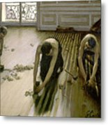 The Parquet Planers - Gustave Caillebotte Metal Print