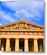 The Parthenon In Nashville Tennessee  Metal Print