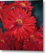 The Passion Of Red Metal Print
