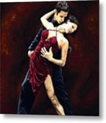 The Passion Of Tango Metal Print