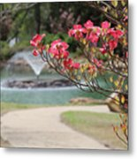 The Path To The Fountain Metal Print
