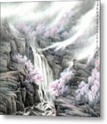 The Peach Blossoms In The Mountains Metal Print