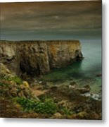 The Pembrokeshire Cliffs Metal Print