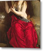The Penitent Magdalen Metal Print