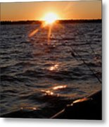 The Perfect Ending - After A Good Day Of Fishing Metal Print