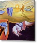 The Persistence Of Memory-amadeus Series  Metal Print