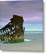 The Peter Iredale Metal Print