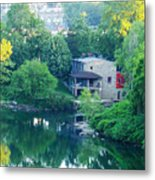 The Philadelphia Canoe Club At The Mouth Of The Wissahickon Metal Print