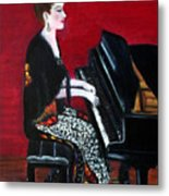 The Pianist Metal Print by Pilar  Martinez-Byrne