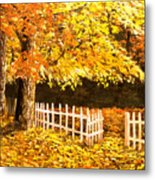 The Picket Fence Metal Print