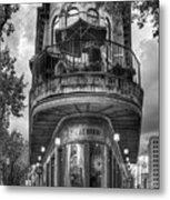 The Pickle Barrel 3 B W Flatiron Architecture Chattanooga Tennessee Art Metal Print