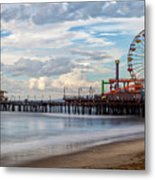 The Pier On A Cloudy Day Metal Print