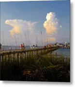 The Pier On Anna Maria Island Metal Print