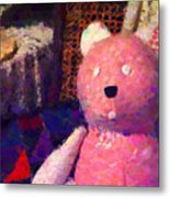 The Pink Bear Metal Print