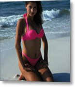 The Pink Bikini Metal Print