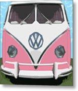 The Pink Love Bus Metal Print