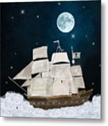 The Pirate Ghost Ship Metal Print