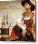 The Pirate Queen Metal Print
