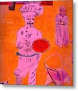 The Pizza  Theos. Metal Print