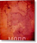 The Planet Mars Metal Print by Michael Tompsett