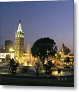 The Plaza In Kansas City, Mo, At Night Metal Print