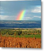 The Pleasant View Rainbow Metal Print