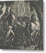 The Ploughman Metal Print