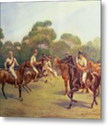 The Polo Match Metal Print