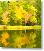 The Pond At Alpine Metal Print