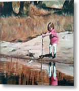 The Pond Metal Print