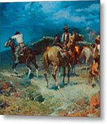 The Pony Express Metal Print