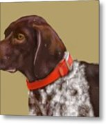 The Pooch With A Red Collar Metal Print