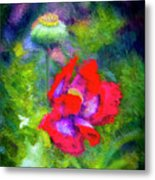 The Poppie Calls Metal Print