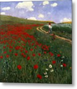 The Poppy Field Metal Print