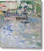 The Port At Nice Metal Print by Berthe Morisot