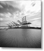 The Port Of Los Angeles Metal Print