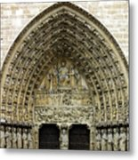 The Portal Of The Last Judgement Of Notre Dame De Paris Metal Print