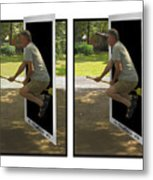 The Potter Effect - Gently Cross Your Eyes And Focus On The Middle Image Metal Print