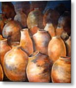The Pottery Metal Print