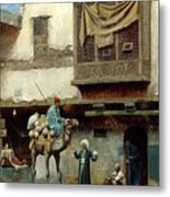 The Pottery Seller In Old City Metal Print