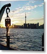 The Precision Of Sunset In The Harbour Metal Print