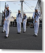 The Precision Rifle And Flag Drill Team Metal Print